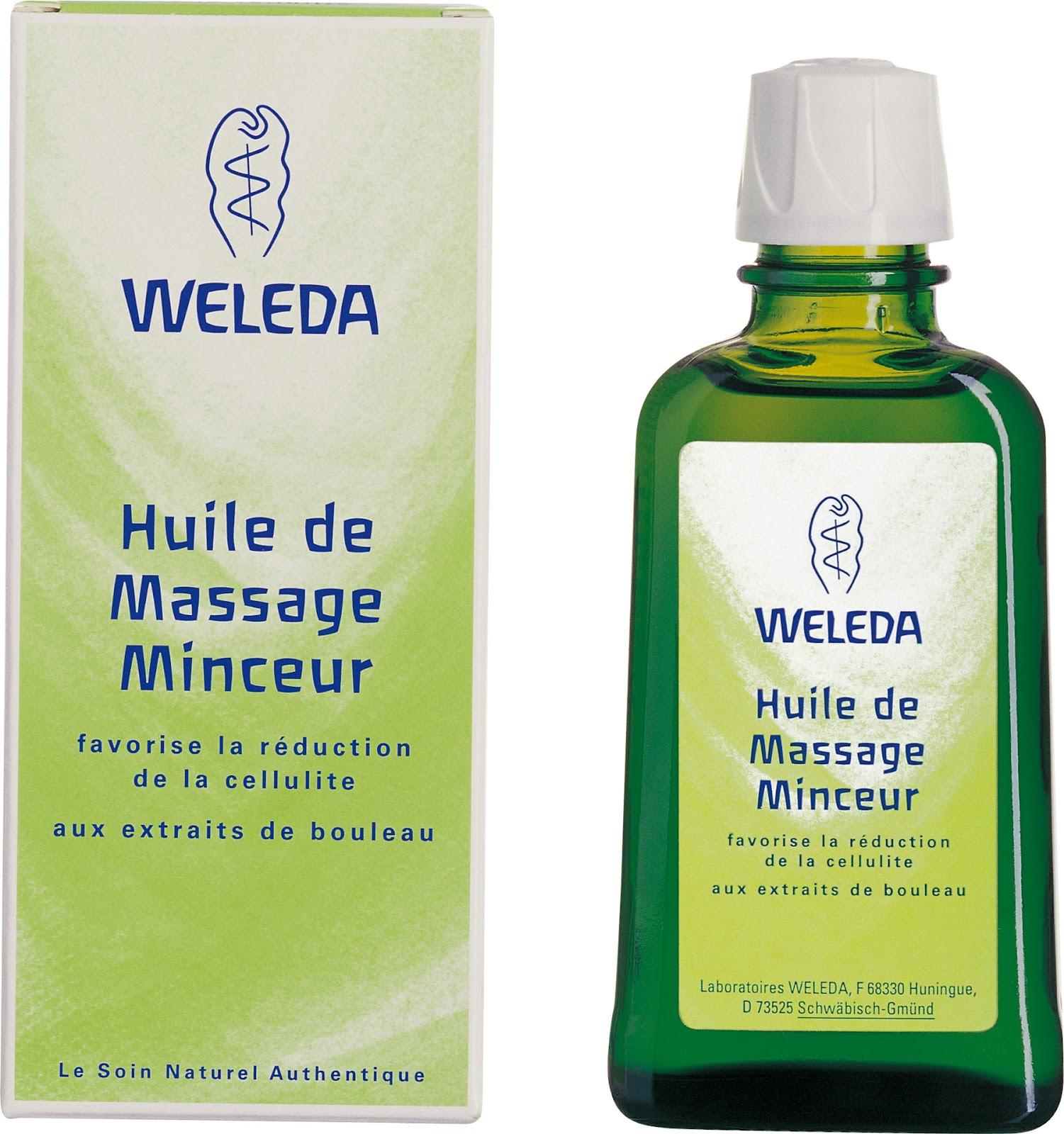 Huile de massage minceur Weleda
